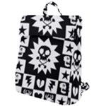 Gothic Punk Skull Flap Top Backpack
