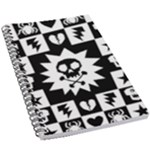 Gothic Punk Skull 5.5  x 8.5  Notebook