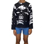 Morbid Skull Kids  Long Sleeve Swimwear