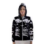 Morbid Skull Women s Hooded Windbreaker