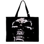 Morbid Skull Zipper Mini Tote Bag