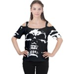 Morbid Skull Cutout Shoulder Tee