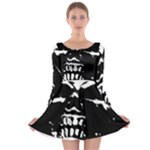 Morbid Skull Long Sleeve Skater Dress