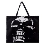 Morbid Skull Zipper Large Tote Bag