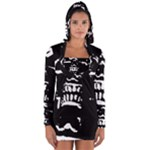 Morbid Skull Long Sleeve Hooded T-shirt