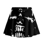 Morbid Skull Mini Flare Skirt