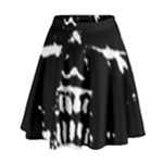 Morbid Skull High Waist Skirt