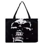 Morbid Skull Zipper Medium Tote Bag