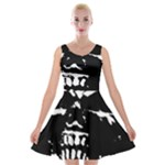 Morbid Skull Velvet Skater Dress