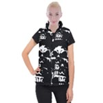 Morbid Skull Women s Button Up Vest