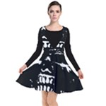 Morbid Skull Plunge Pinafore Dress