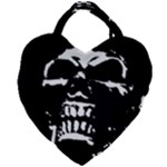 Morbid Skull Giant Heart Shaped Tote