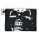 Morbid Skull Canvas Cosmetic Bag (XL)