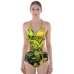 Background Star Abstract Colorful Cut Out One Piece Swimsuit