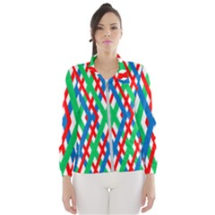 Geometric Line Rainbow Women s Windbreaker by HermanTelo