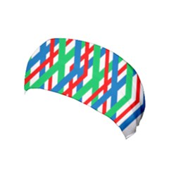 Geometric Line Rainbow Yoga Headband by HermanTelo
