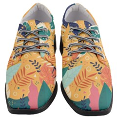 Tropical Pattern Women Heeled Oxford Shoes by Valentinaart