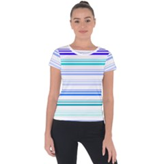 Marine Short Sleeve Sports Top