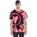 Love Heart Splatter Men s Sports Mesh Tee