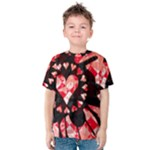 Love Heart Splatter Kids  Cotton Tee