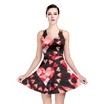 Love Heart Splatter Reversible Skater Dress
