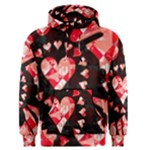 Love Heart Splatter Men s Pullover Hoodie