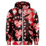Love Heart Splatter Men s Zipper Hoodie