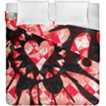 Love Heart Splatter Duvet Cover Double Side (King Size)