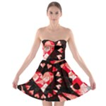 Love Heart Splatter Strapless Bra Top Dress