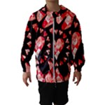 Love Heart Splatter Kids  Hooded Windbreaker
