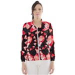 Love Heart Splatter Women s Windbreaker