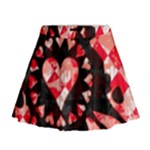 Love Heart Splatter Mini Flare Skirt