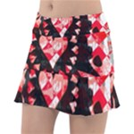 Love Heart Splatter Tennis Skirt