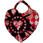 Love Heart Splatter Giant Heart Shaped Tote