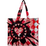 Love Heart Splatter Canvas Travel Bag