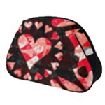 Love Heart Splatter Full Print Accessory Pouch (Small)