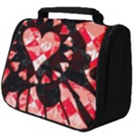 Love Heart Splatter Full Print Travel Pouch (Big)
