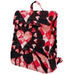 Love Heart Splatter Flap Top Backpack