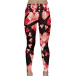 Love Heart Splatter Lightweight Velour Classic Yoga Leggings
