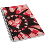 Love Heart Splatter 5.5  x 8.5  Notebook