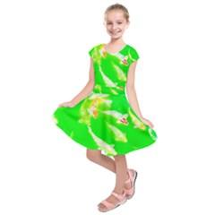 Koi Carp Scape Kids  Short Sleeve Dress by essentialimage