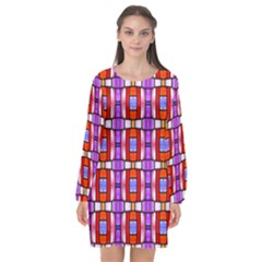 N 2 Long Sleeve Chiffon Shift Dress  by ArtworkByPatrick