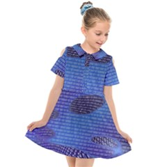 Binary Digitization Null Kids  Short Sleeve Shirt Dress by AnjaniArt