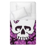 Pink Polka Dot Bow Skull Duvet Cover (Single Size)
