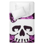 Pink Polka Dot Bow Skull Duvet Cover Double Side (Single Size)
