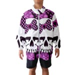 Pink Polka Dot Bow Skull Kids  Windbreaker