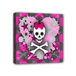 Princess Skull Heart Mini Canvas 4  x 4  (Stretched)