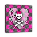 Princess Skull Heart Mini Canvas 6  x 6  (Stretched)