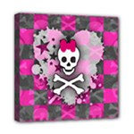 Princess Skull Heart Mini Canvas 8  x 8  (Stretched)
