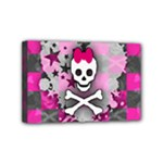 Princess Skull Heart Mini Canvas 6  x 4  (Stretched)
